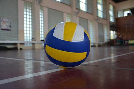 indoor background: Volleyball Stock Photo