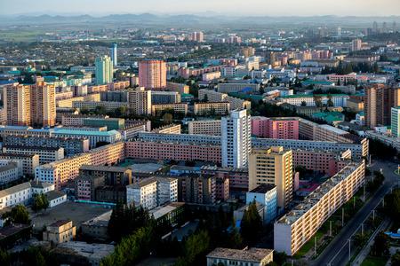 Buildings in Pyongyang, North Korea