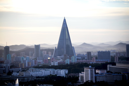 building color: Pyongyang, capital of North Korea, the color building - Liu Jing Hotel Editorial