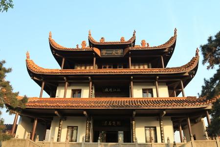 city park pavilion: Sky overhead Chinese style Pavilion