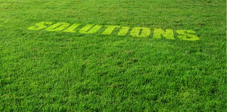 Solutions Letters on Green Lawn