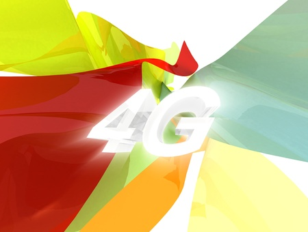 4G Long Term Communication Latest Phone Standard Stock Photo