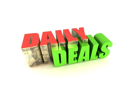 Daily Deals Text with $20 on White