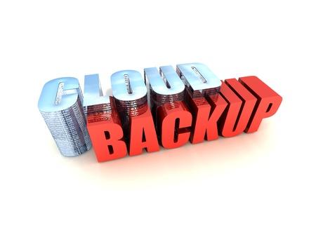 Web-based Data Backup Service Isolated on White Background Imagens