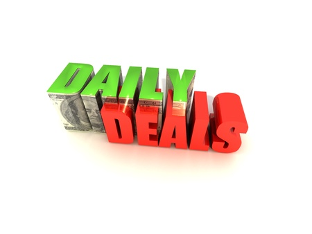 daily: Daily Deals Text Block with $100 on White