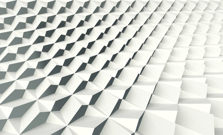 White Folding Shell Screen Wall Stock Photo