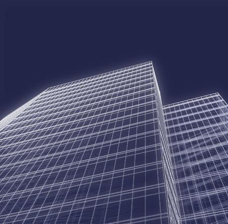 Büroturm 3D-Zeichnung Standard-Bild - 9532953