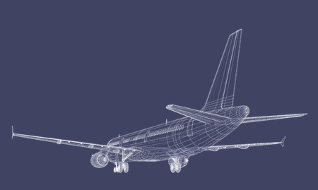 Jet Airliner Blueprint