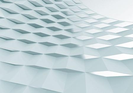 Stone Color Curved Lattice Screen