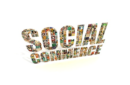 Social Commerce Text on White Background Stock Photo