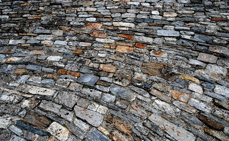 Paving Stones from Medieval Castle Stock Photo