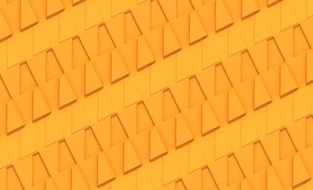 trapezoid: Panel naranja con el patr�n trapezoidal Foto de archivo