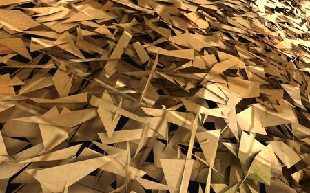bark mulch: Pile of Debris with Digital Fragments