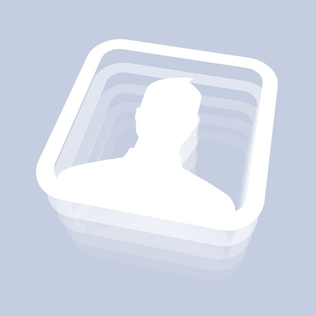 Male User Icon for Social Media