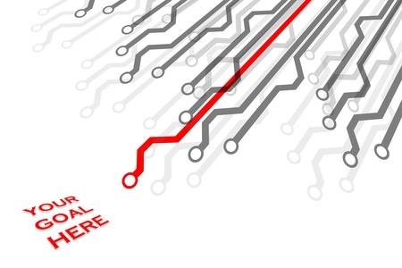 mapa de procesos: Ruta cr�tica en rojo