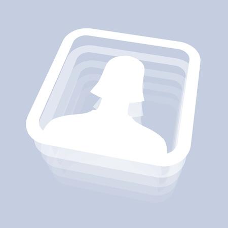 Female Face Icon for Social Media photo