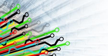 Diagram Paths in Multiple Colors Standard-Bild