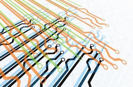 mapa de procesos: Diagrama de m�ltiples rutas de acceso Foto de archivo