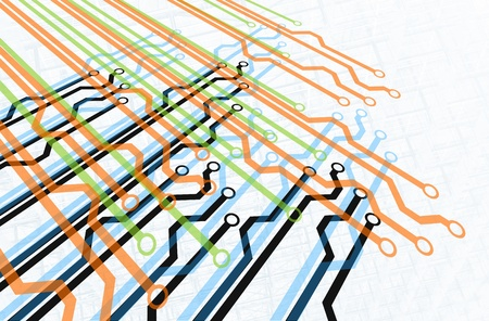 Multiple Paths Diagram Standard-Bild