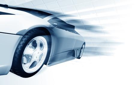 car theft: Speeding Car Stock Photo