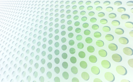perspective grid: Green Perforated Mesh