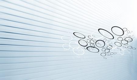 Streaming Circles on Industrial Background Standard-Bild