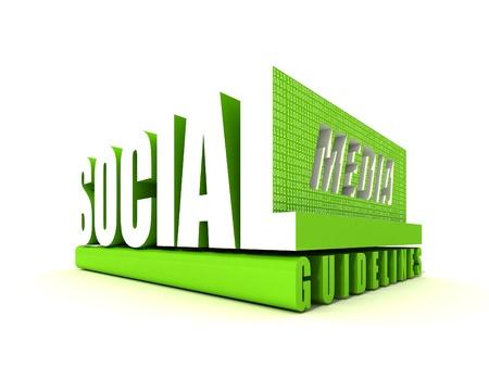 Social Media Guidelines Stock Photo - 10804301