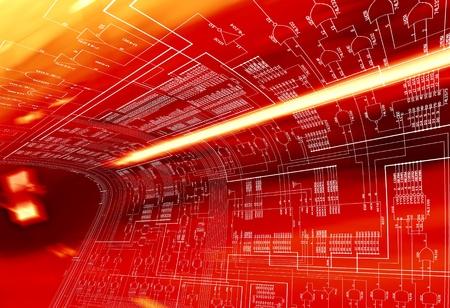 transistor: Circuitos de emergencia Foto de archivo
