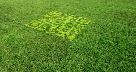 Green Marketing with QR Code Standard-Bild