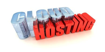Web Based Online Data Hosting Concept on White Stock Photo - 11194180