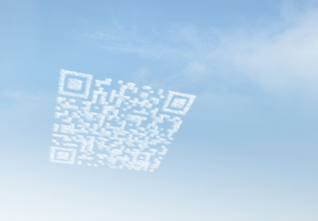 retailing: Cloud Marketing QR Code Stock Photo