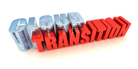 Transition to Cloud Computing Stock Photo - 14127515