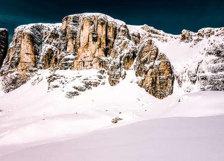powder snow: winter dolomites powder snow for skiing Stock Photo