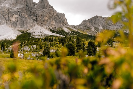 dolomites lagazuoi cortina ampezzo Stock Photo