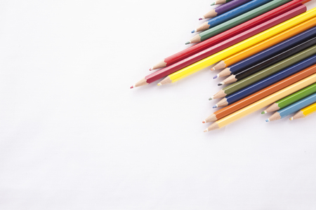pencil point: Colour pencils isolated on white background