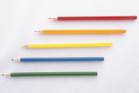 color pencils: Colour pencils isolated on white background