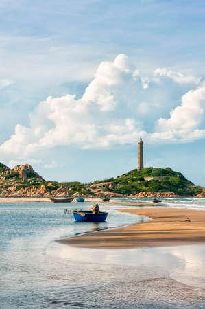 Ke Ga Lighthouse in early morning sunshine, oldest lighthouse of Vietnam  Binh Thuan province, Vietnam