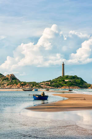 ga: Ke Ga Lighthouse in early morning sunshine, oldest lighthouse of Vietnam  Binh Thuan province, Vietnam