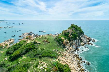 Ke Ga Island, Ke Ga Lighthouse, oldest lighthouse of Vietnam  Binh Thuan Province, Vietnam