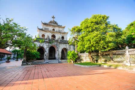 Phat Diem cathedral, Kim Son, Ninh Binh, Vietnam Stock Photo