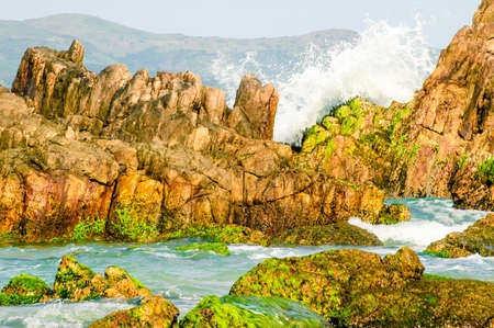 Waves hitting the rocks, Xuan Dai Bay, Phu Yen Province, Vietnam