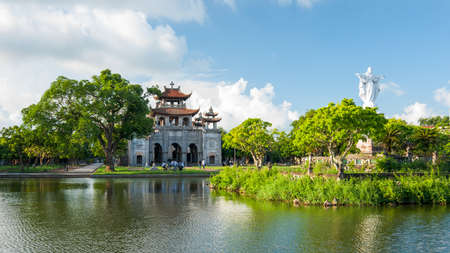 Phat Diem Cathedral  Kim Son District, Ninh Binh Province, Vietnam  Although a church, it was built in traditional Vietnamese temple architecture  It was built of stone and wood in 24 years