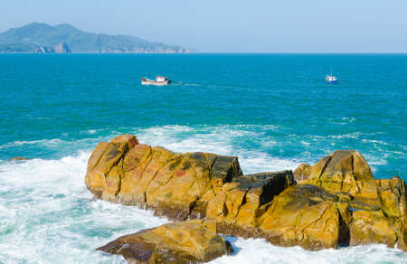 Cliffs  Ganh Den Reef, Xuan Dai Bay, Tuy An District, Phu Yen Province, Vietnam photo