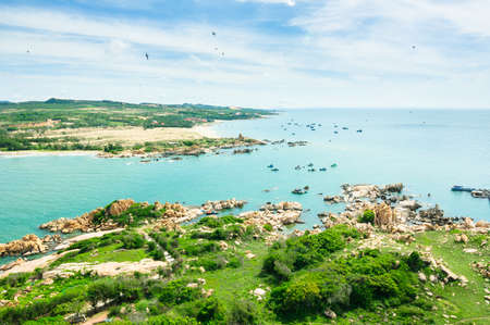 Ke Ga Island in Ham Thuan Nam district, Binh Thuan province, where has the tallest and oldest lighthouse in Southeast Asia