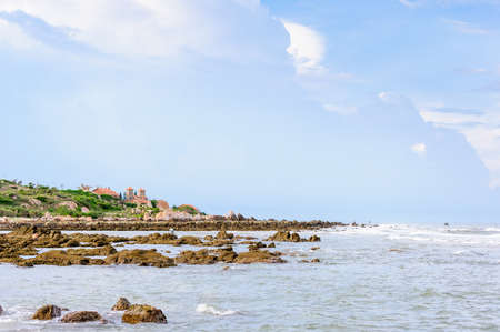 ga: Beautiful resort and rocky beach in Ke Ga Cape, Binh Thuan, Vietnam