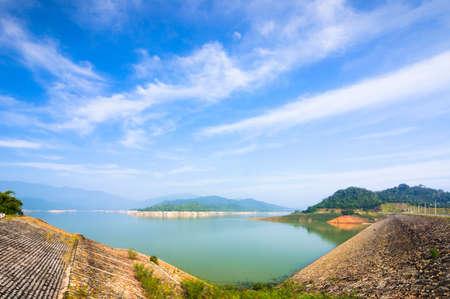 Lakes reservoir for hydropower plant near Da Mi, Lam Dong, Vietnam