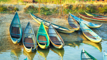 Beautiful Boats in Dam Nai Bay near Phan Rang, Vietnam photo