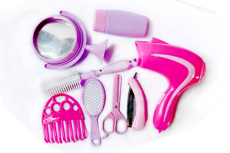 role play: Hair Stylist Role Play Costume Set Stock Photo