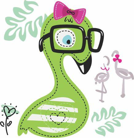Little flamingo new art for baby girl