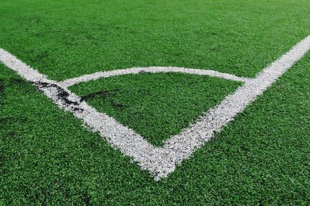 Lines of a soccer field. Ideal for sportsactive theme. photo